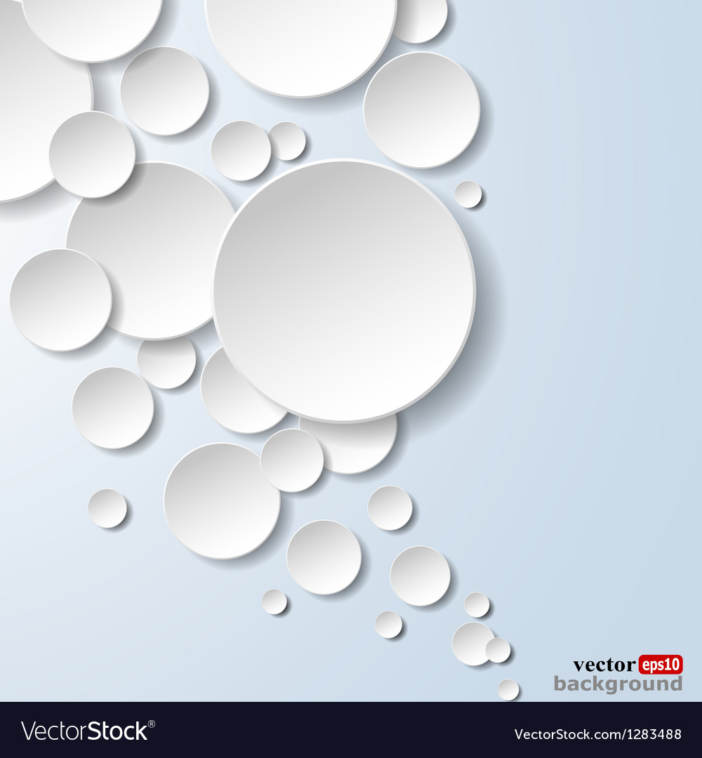 Abstract white paper circles vector