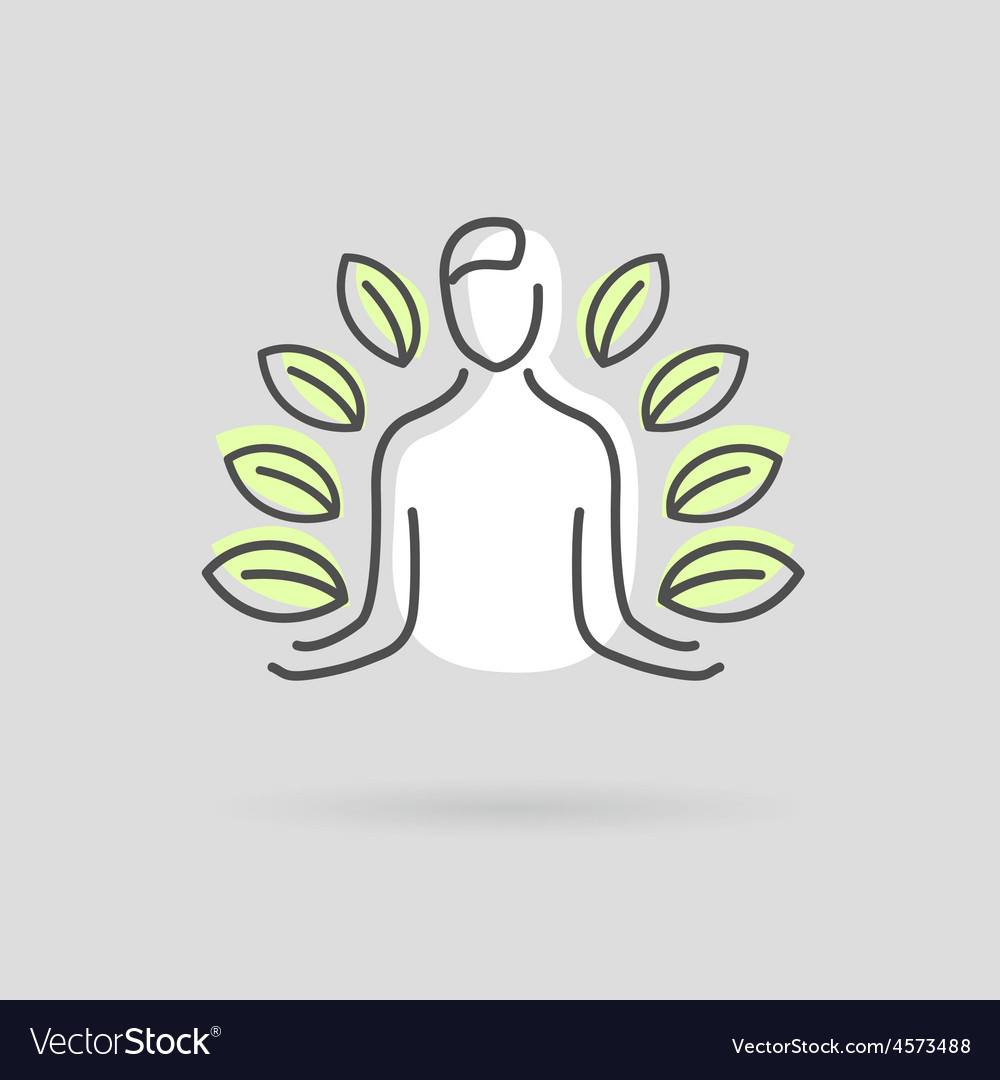 Yoga design logo vector