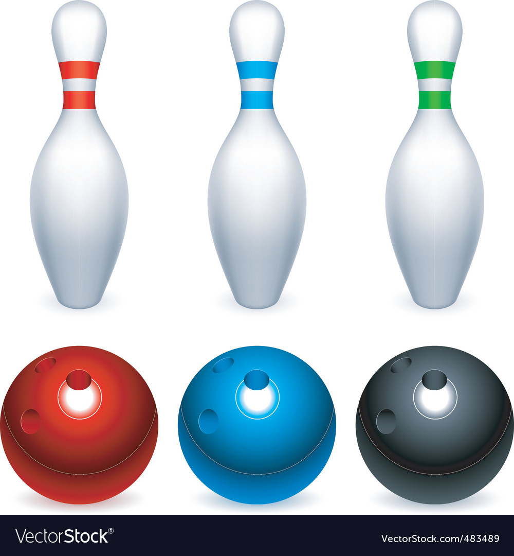 Ten pin bowling vector
