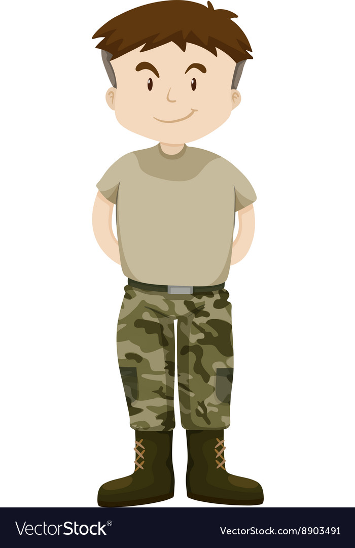 Man in military uniform vector