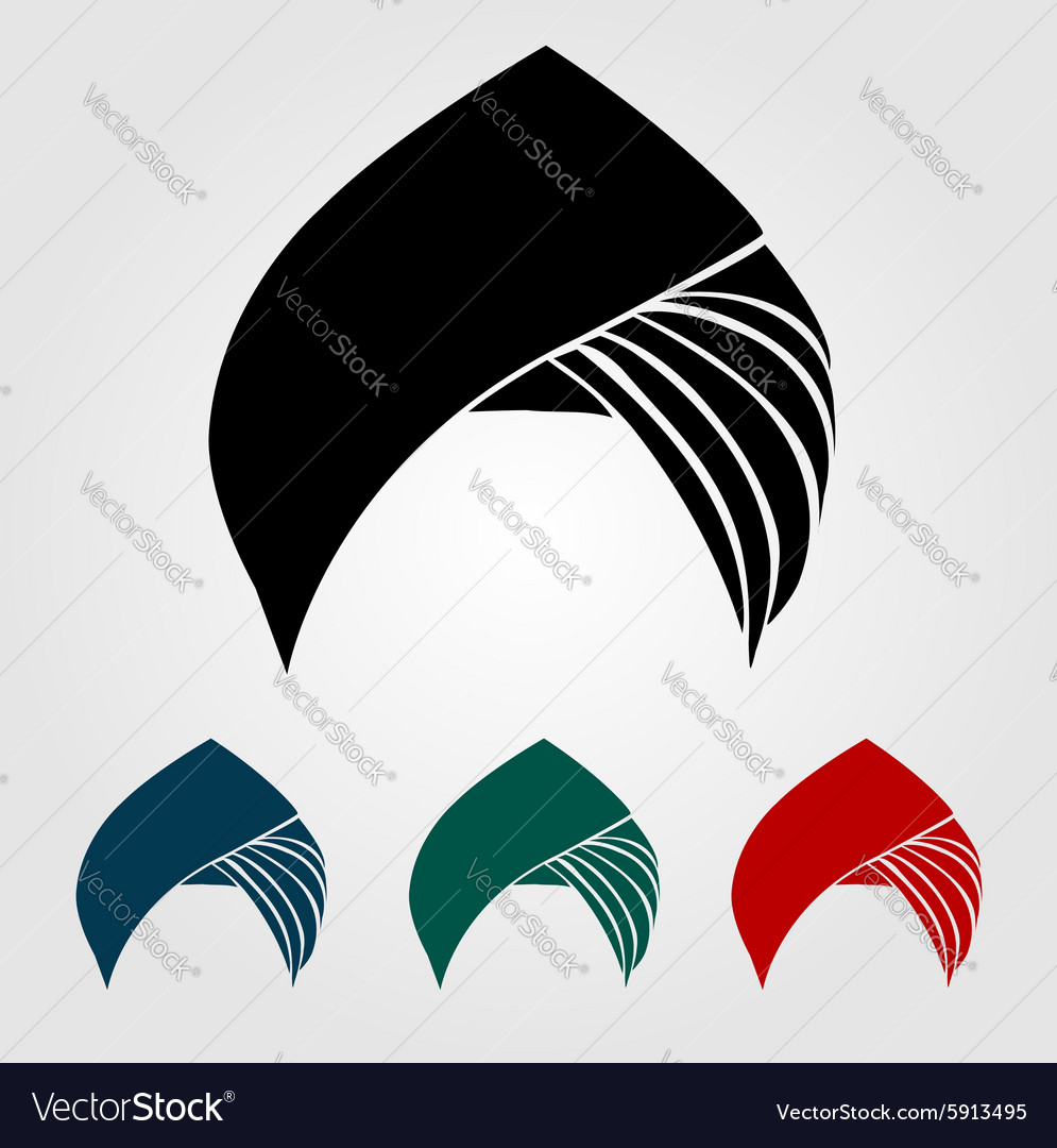 Colorful turbans or headgear vector