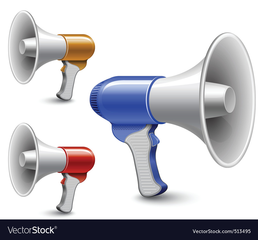 Megaphones loudspeaker collection vector
