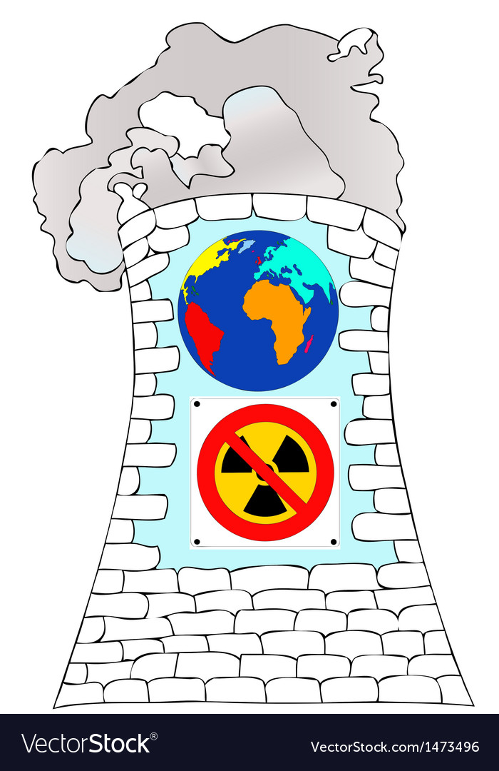 Against nuclear power for a cleaner world vector