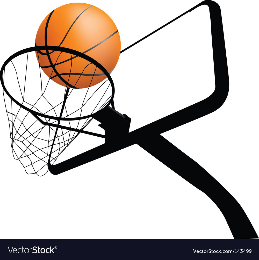Basketball hoop dynamic vector