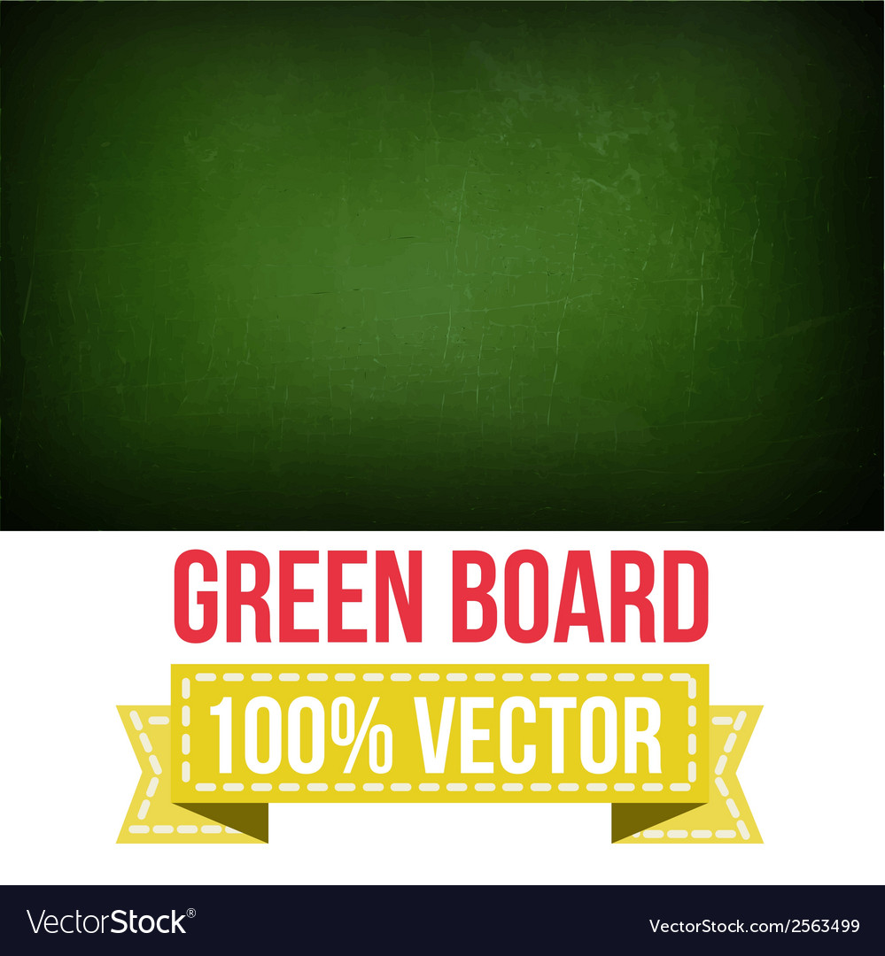 Green board with text on chalkboard vector