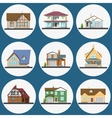 Colorful Flat Residential Houses set vector image