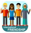 international friendship vector image