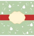 Red ribbon on the lid of the gift and the banner vector image
