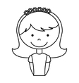 first communion girl character vector image
