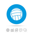 volleyball sign icon beach sport symbol vector image