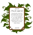 Image green leaf with frame for text vector image