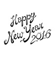 2016 Happy New Year lettering Greeting Card design vector image