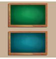 set of empty wooden blackboards vector image