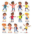 cheerful school children isolated vector image