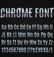 Chrome font vector image