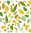 colored seamless leaves vector image