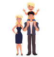 father mother and son happy family happy families vector image