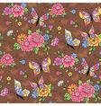 floral pattern butterflies vector image
