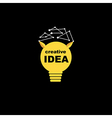 Idea bulb icon concept creative background vector image