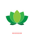lotus it is icon vector image
