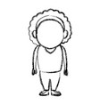 standing woman female adult person character vector image
