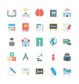 Education Colored Icons 1 vector image