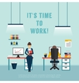 Office Interior Poster vector image
