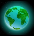 earth planet with continents vector image