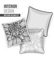 Set of decorative pillows vector image