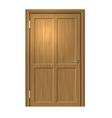 Realistic Wood door vector image