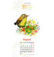 calendar for 2015 august vector image vector image
