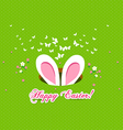 happy easter bunny ears vector image