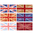 british flag grunge vector vector image vector image