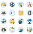 Flat Icons For Car Service Icons vector image vector image