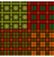 set plaid patterns tartan vector image