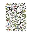 Floral pattern sketch for your design vector image