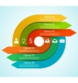 Infographic arrow circle template vector image