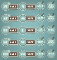 Set of sale labels retro vector image