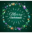 Christmas light wreath decorative lighting vector image