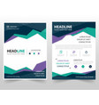 Colorful triangle geometric leaflet brochure vector image