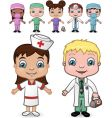 Doctors and nurses set vector image