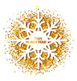 frame in the form of a snowflake vector image
