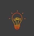 idea concept lightbulb icon vector image