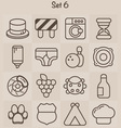 Outline Icons Set 6 vector image