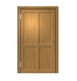 Realistic Wood door vector image