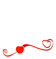 Red ribbons with heart vector image