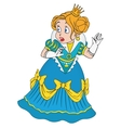 Scared Princess with a crown vector image