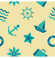 seamless background with sea icons vector image