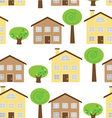 Seamless House Pattern vector image