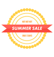 Summer sale colorful banner badge vector image